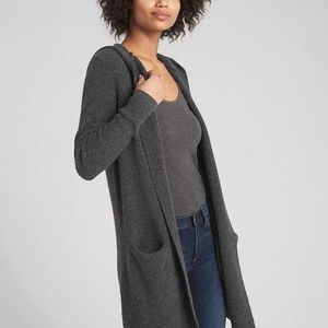 BLK Long Hooded knit cardigan